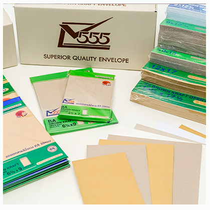 open envelope with paper seethong 555 co ltd