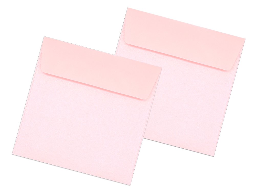 Pearl Metallic Envelope No. 4 1/2 x 4 1/2 Pink