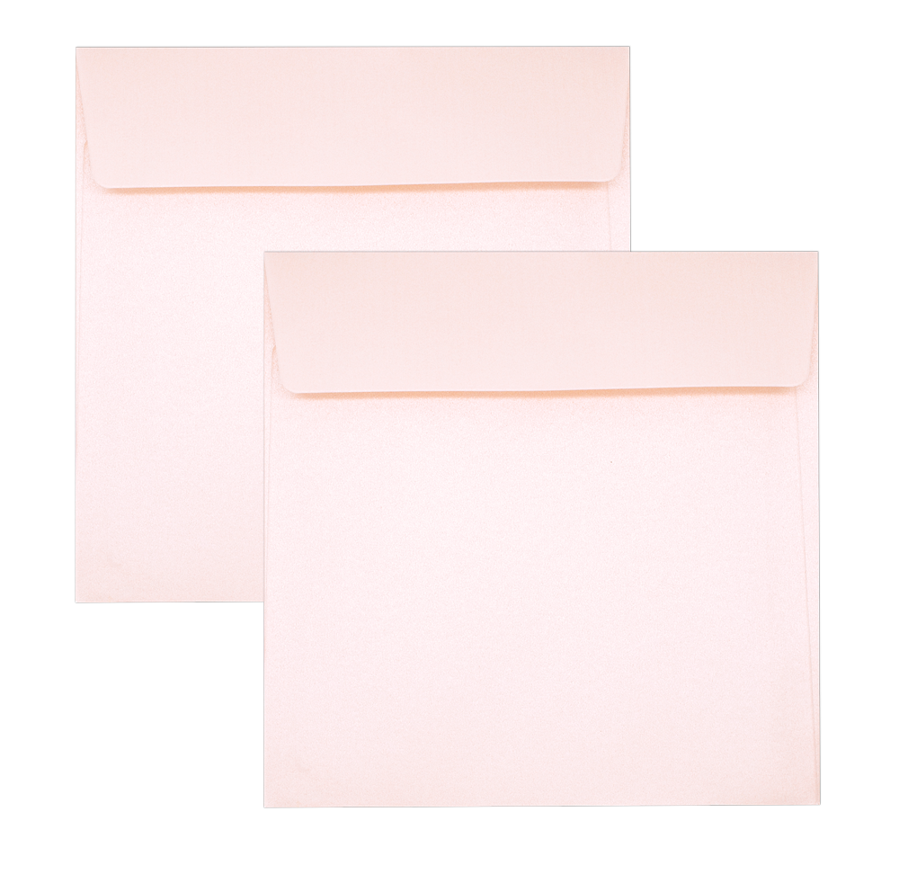 Pearl Metallic Envelope No. 6 x 6 Pink