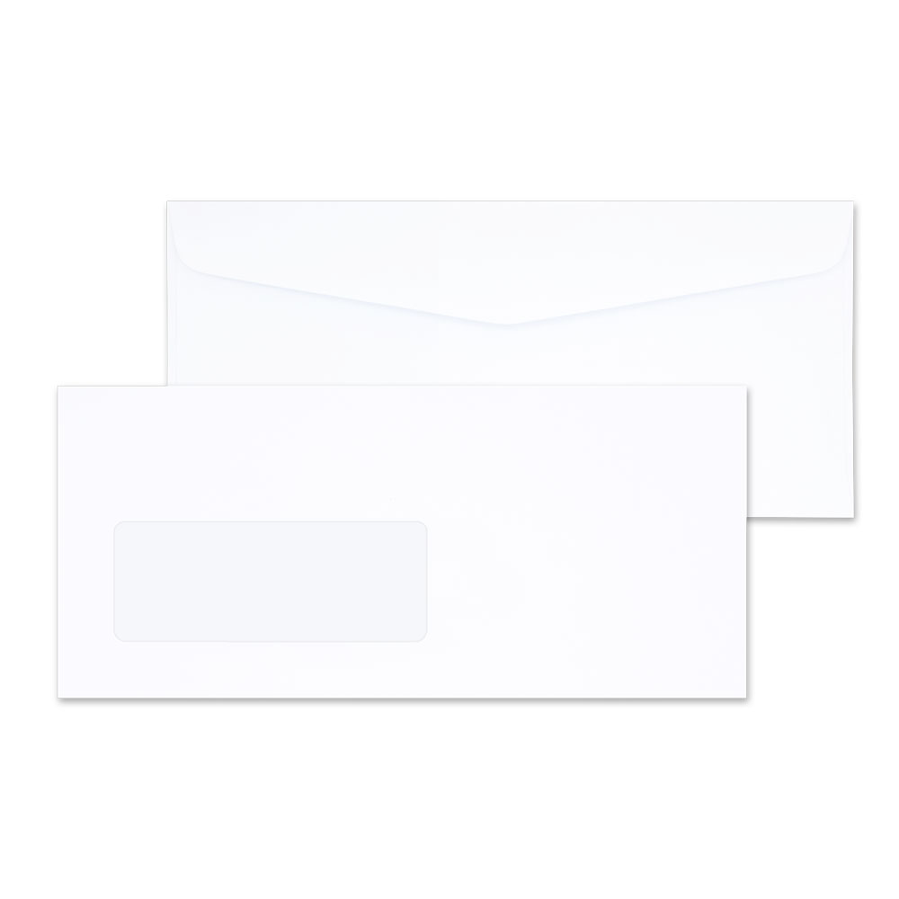 White Window Envelope No. 9/125 AA (window 40 x 106 mm.)
