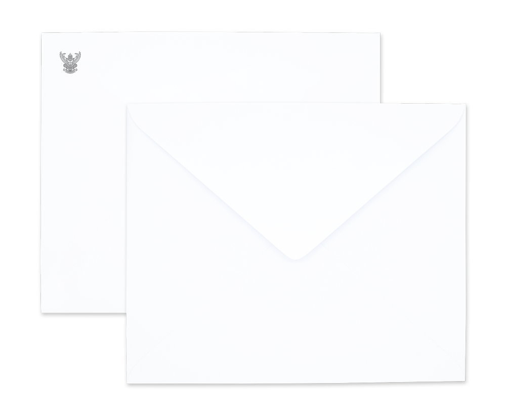White Government Envelope No. 2 Fold